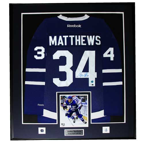 Auston Matthews Toronto Maple Leafs Signed Jersey Frame - Framing Edge