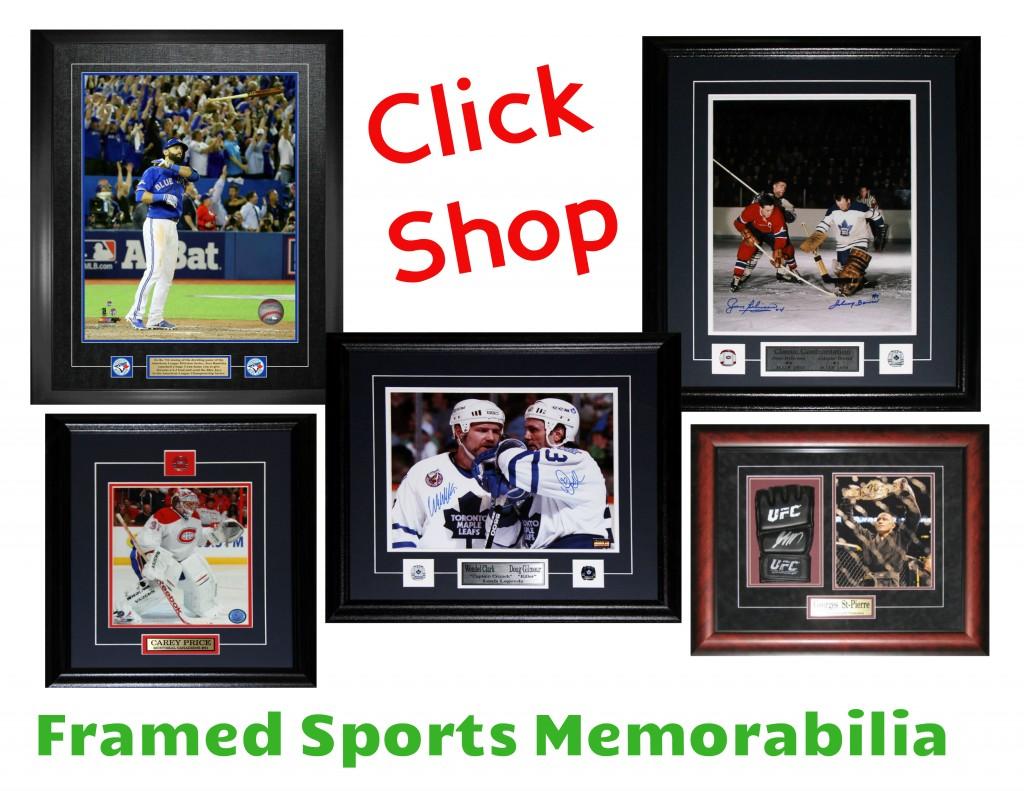 Framed Sports Memorabilia Framing Edge