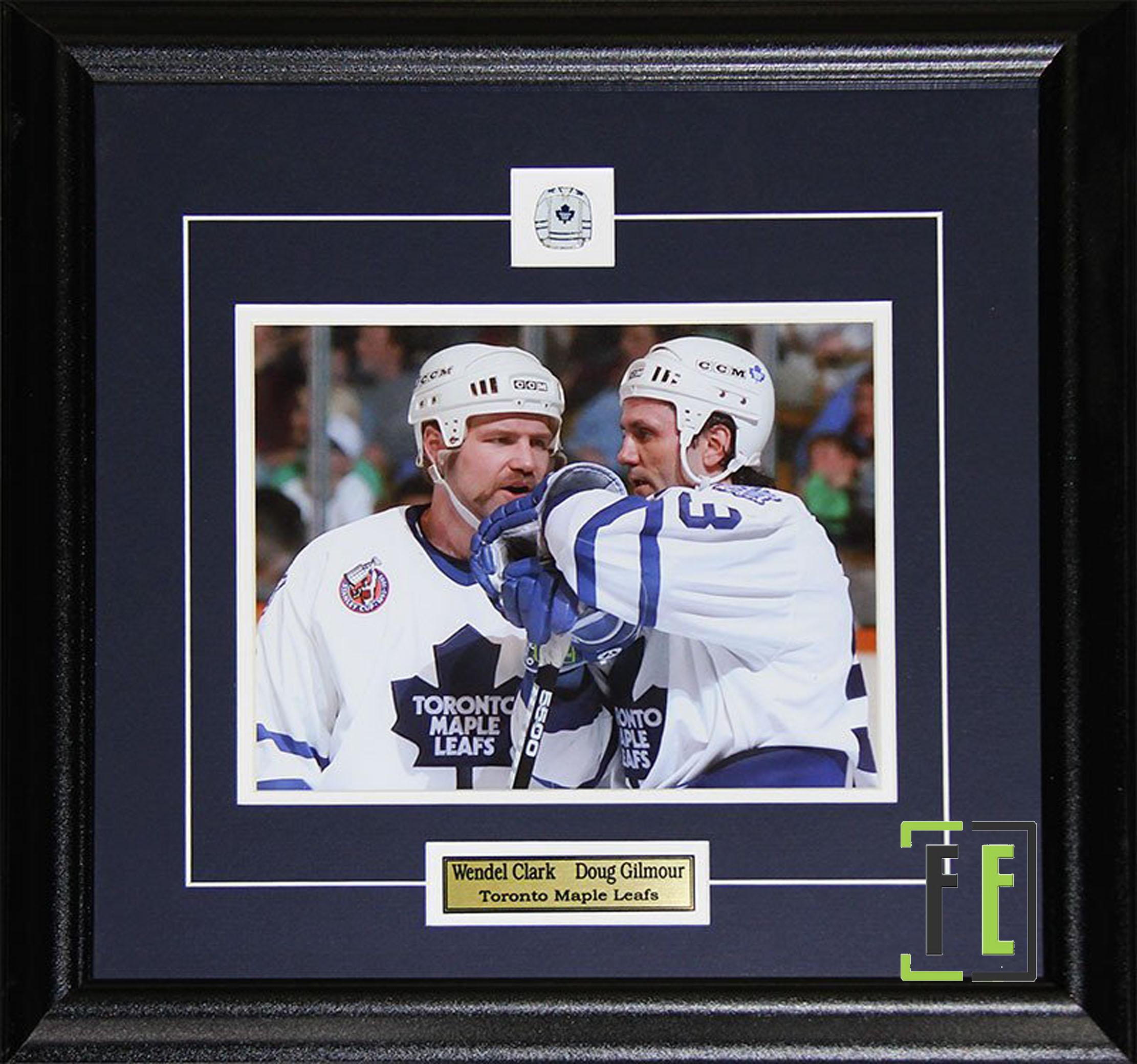 wholesale dealer 3c28c 843ec Wendel Clark & Doug Gilmour Toronto Maple Leafs 8x10 Photograph Framed