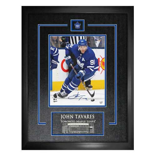 best cheap a2c66 102ad John Tavares Toronto Maple Leafs Autographed Action Photograph Frame