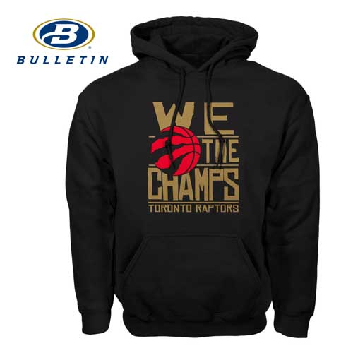 finest selection 9bc58 a800c Toronto Raptors NBA Bulletin 2019 Gold We The Champs Hoodie