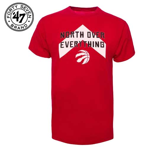 sale retailer 28f32 fd79a Toronto Raptors NBA '47 North Over Everything T-Shirt